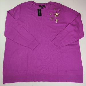 Lane Bryant NWT Petite Sweater Purple Sz 22/24